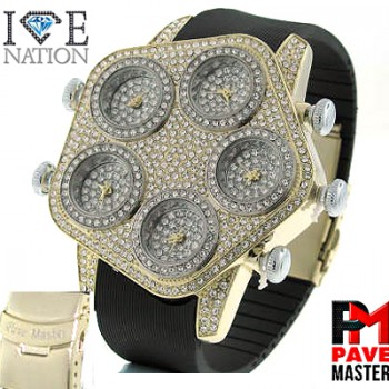 "MULTI WATCH  WITH PREMIUM SILICONE 8.5 "" BAND,  FULL MICRO PAVE PREMIUM QUALITY SHINY STONES, SAFETY BUKLE WITH LATCH MAKE ITS LOOK VERY EXPENSIVE LOOK, VERY EASY TO ADJUST TO MAKE IT SMALLER ITS LIKE MAKING CUSTOM BAND FOR YOUR CUSTOMER, MAKE YOUR CUSTOMER FEELS SPECIAL"