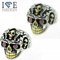 STAINLESS STEEL BIKER STYLE SKULL CUSTOM DESIGN RING ALL SHANKS ARE MADE THICK AND HEAVY DUTY