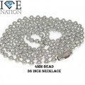 STAINLESS STEEL 4MM BEAD NECKALCE VERY EASY TO MAKE IT SMALLER OR ADJUST.