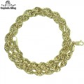 10KT GOLD ROPE NECKLACE