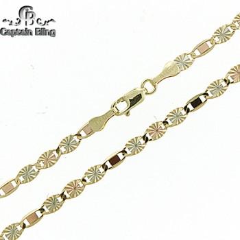 10kt mirror Valentino necklace