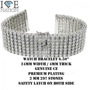 Men's CZ watch bracelet