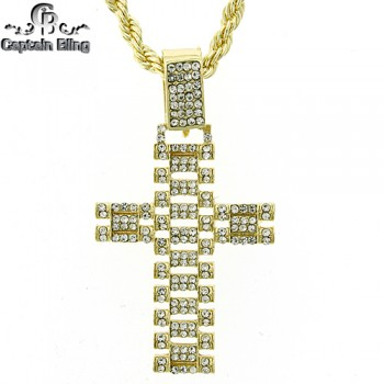 MICRO PAVE SETS, COMES WITH 24 INCH ROPE NECKLACE.