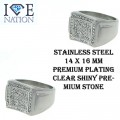 Stainless Steel Designer look with Clear Shiny Premium Quality stone.