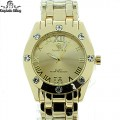 MENS ELEGANT STYLE DESIGNER LOOK WATCH WITH STAINLESS STEEL BAND WITH PREMIUM PLATING