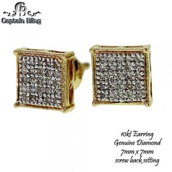 10KT GOLD DIAMOND EARRINGS
