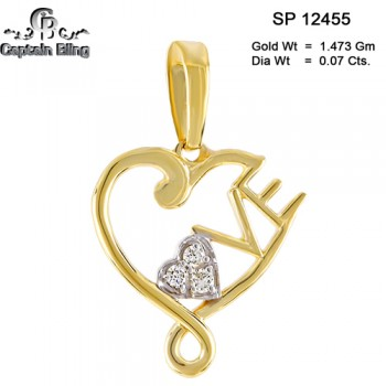 10KT DIAMOND PENDANT,   NOTE: gold weight and diamond ct are appx, all right reserved.