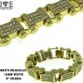 """Mens pave bracelets nice designer look appx 8""""."""