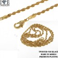 FASHION 2.00MM TWISTED NECKLACE PREMIUM PLATING MADE IN KOREA