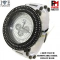 Men's Hip Hop Style 4 Row Watch with removable bezel with premium plating and premium bullet band.