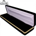 BLACK VELVET FLOCKED BRACELET BOX WITH GOLD TRIM  The minimum purchase required for RING BOX is 12 units