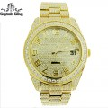 STAINLESS STEEL WATCH  PRONG SETTING  GENUINE CZ  QUARTZ MOVEMENT  DIPLOMENT BUCKLE  COMES WITH BOX