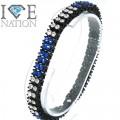 Fashion 2 row stone bracelet 9 inches long