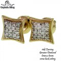 10KT GOLD DIAMOND EARRINGS  GENIUNE DIAMONDS