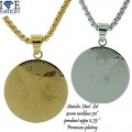 STAINLESS STEEL SET PENDANT + NECKLACE