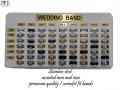 STAINLESS STEEL RING DISPLAY  COMES WTIH 63 PCS ASSORTED MM AND ASSORTED SIZES  FREE DISPLAY  $1.50 EACH X 63 PCS = $94.50