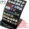 "24 PAIR MICRO PAVE EARRINGS  ASSORTED STYLES AND ASSORTED COLORS SIZES 5X5,7X7 & 8X8,  YOUR COST WITH DISPLAY $1.50 EACH DISPLAY DIMENSION 3.5""X2.75"" SMALL ENOUGH TO FIT ANY CORNER OF SMALL SPACE BOOST YOUR SALES LIMITED TIME OFFER"