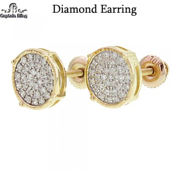 10KT GOLD DIAMOND EARRINGS  GENIUNE DIAMONDS  HIGH POLISH  CLEAR STONE CLARITY   ALL CUSTOM MADE DESIGNS  NOTE: ALL WEIGHTS APPX. ALL RIGHTS RESERVED  NOTE: PICTURES ENLARGED FOR DETAILS