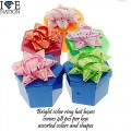 ASSORTED BRIGHT COLOR  HAT BOXES  48 RING BOXES