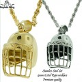 STAINLESS STEEL SET COMES WITH 4MM STAINLESS STEEL ROPE NECKLACE PREMIUM QUALITY.