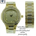 CAPTAIN BLING WATCH SET  COMES WITH MATCHING BRACELET  COMES WITH BOX  PREMIUM QUALITY