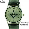 MASONIC WATCH  PREMIUM QUALITY  LEATHER BAND
