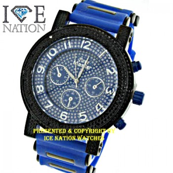 Mens hip hop designer Full Stone Bezel inside the dial look pave eye catching Swiss Design Dial watch and premium quality bullet band