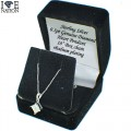 "Sterling Silver Genuine Diamond Pendant  Sterling Silver over Rhodium plating for long lasting 14kt white gold finish   comes with 18"" box chain   Illusion Settings  Butterfly Back  comes with earring box"