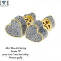 MICRO PAVE CZ EARRING WITH SCREW BACK SETTINGS