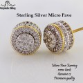 STERLING SILVER MICRO PAVE CZ EARRINGS,