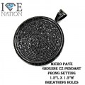 MENS CROSS PENDANT  MADE OUT BRASS MATERIAL  GENUINE  CLEAR CZ AND BLACK CZ  MICRO PAVE SETTINGS  EACH STONES IS HAND MADE 4 PRONG SETTINGS  14KT WHITE GOLD RHODIUM FINISH/GM METAL PREMIUM PLATING  Pictures might not describe how good has the pendant cz stones and settin