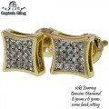 10KT GOLD DIAMOND EARRINGS