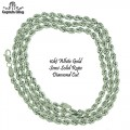 10KT WHITE GOLD ROPE NECKLACE
