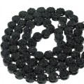 FLOWER CHAIN BLACK PLATING WITH JET BLACK STONES