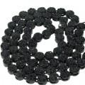 FLOWER CHAIN BLACK PLATING WITH JET BLACK STONES