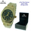 Captain Bling 3 ATM water Resistant watches with stainless steel band with option of with box or without box