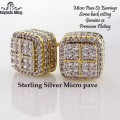 sterling silver micro pave cz earring