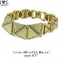 """Mens pave bracelets nice designer look appx 9""""."""