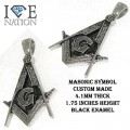 Stainless steel masonic pendant appx 1.75 inches length
