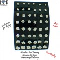 HYPOALLERGENIC STAINLESS STEEL GENUINE BLACK CZ EARRING 24 PAIR CUSTOM MADE BLACK SHINY DISPLAY VERY PORTABLE AND SMALL WITH BUTTERFLY BACK , ITS $30.00 A DISPLAY WHICH COMES OUT $1.25 A PAIR LIMITED TIME OFFER...