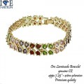 ORO LAMINADO BRACELET, PREMIUM PLATING FOR LONG LASTING GENUINE CZ..