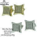 Micro pave cz earring all earring with screw back setting comes with earring card and retail prices
