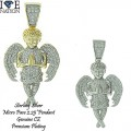 Sterling Silver Micro Pave Pendant with genuine CZ and premium gold or rhodium plating.
