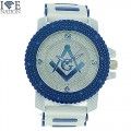 MENS HIP HOP DESIGNER ELEGANT PAVE LOOK EYE CATCHING DIAL WATCH WITH BULLET BAND