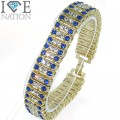 Fashion 4 row stone bracelet 9 inches