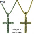 """STAINLESS STEEL CROSS PENDANT + 4 MM NECKLACE 30"""""""
