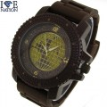 MENS HIP HOP DESIGNER ELEGANT STYLE  PAVE LOOK EYE CATCHING DIAL WATCH WITH HEAVY DUTY SILICONE BAND