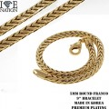 "FASHION 5MM ROUND FRANCO 9"" BRACELET PREMIUM PLATING MADE IN KOREA"