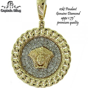 10KT GOLD DIAMOND PENDANT  GENIUNE DIAMONDS