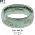 8mm tungsten carbide brushed finished comfort fit band
